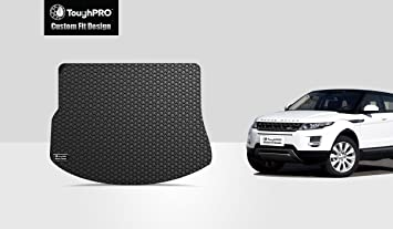 ToughPRO Cargo/Trunk Mat Compatible with Land Rover Range Rover Evoque -  All Weather - Heavy Duty - (Made in USA) - Black Rubber - 2012, 2013, 2014,