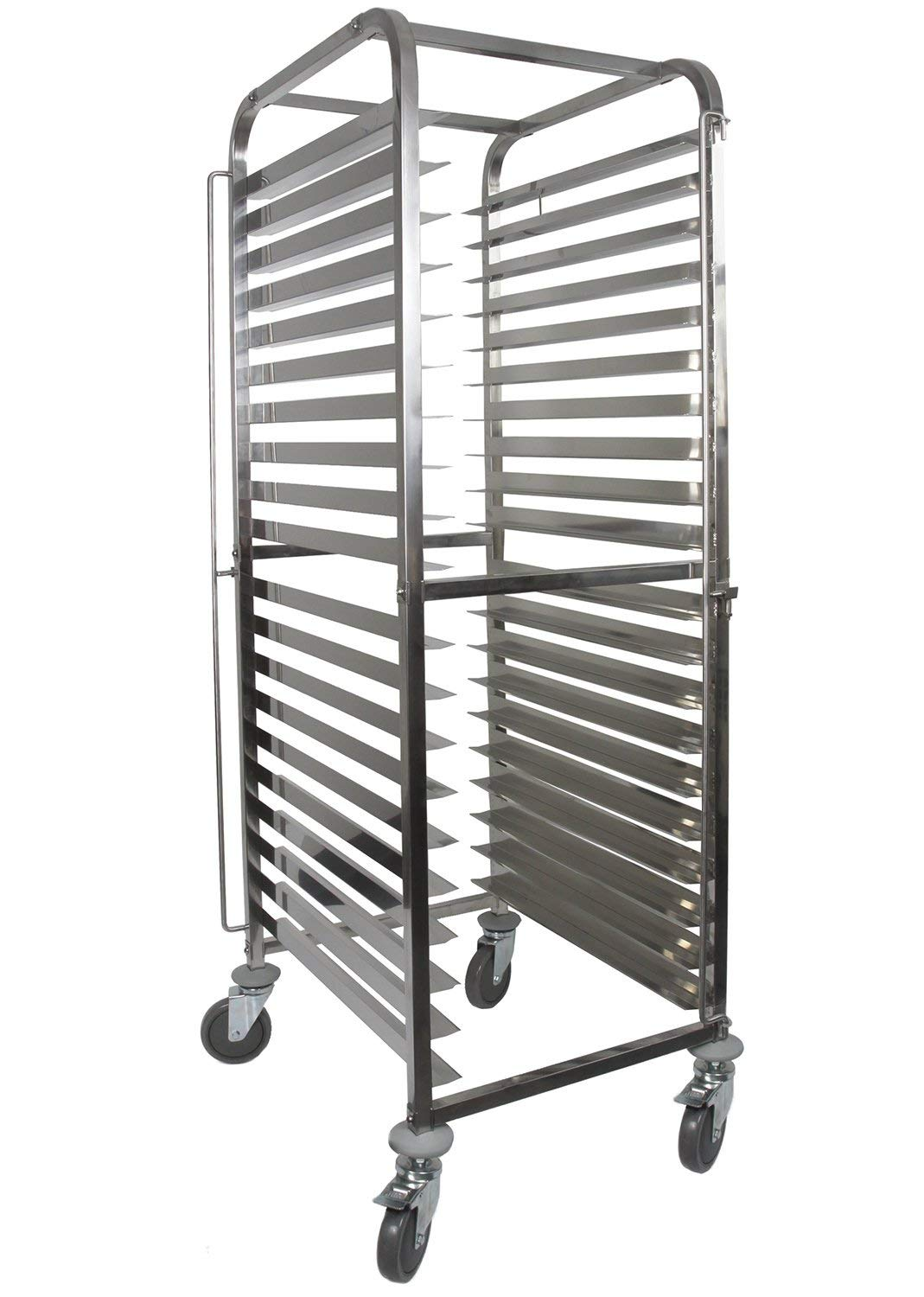 Front-Load Knock Down Bakery Rack All Stainless Steel, for Full Size Sheet Pans (1, For 20 trays)