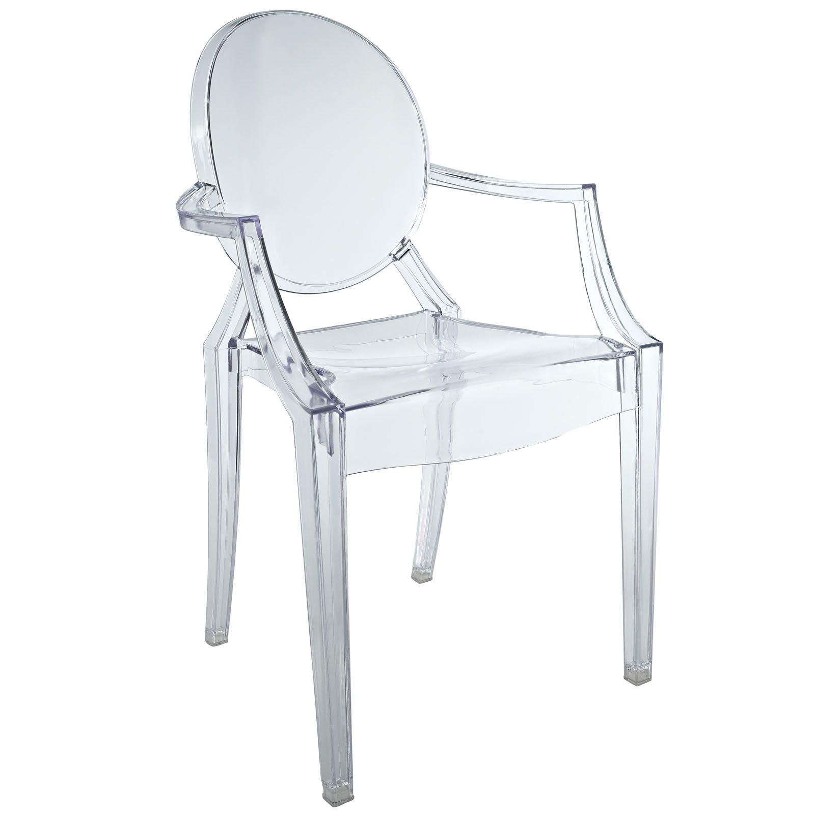 Fun Kids Baroque Chair, Clear