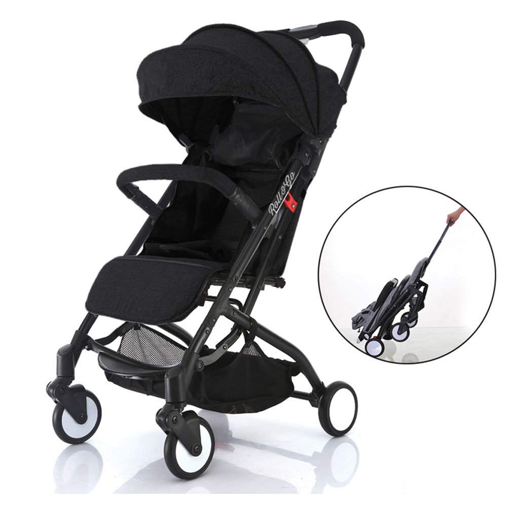 Babyroues Roll & Go Stroller, Fits In Airplane Overhead Bin, One Hand Fold, Large Extendable Canopy, One Hand Pull Handle, Lightweight & Compact, Perfect From Newborn To 4 Years BABYROUÉS 4700