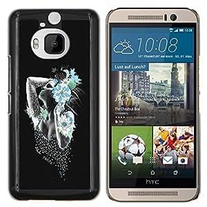 LECELL--Funda protectora / Cubierta / Piel For HTC One M9Plus M9+ M9 Plus -- Arte atractivo de la muchacha Flor del tatuaje --