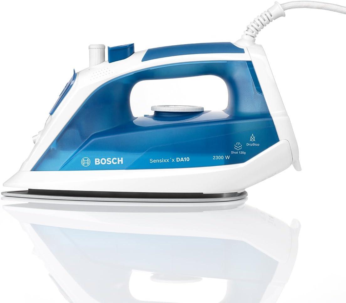 Bosch TDA1023010 Sensixx DA10 Plancha a vapor , 2300 W, color azul y blanco: Amazon.es: Hogar