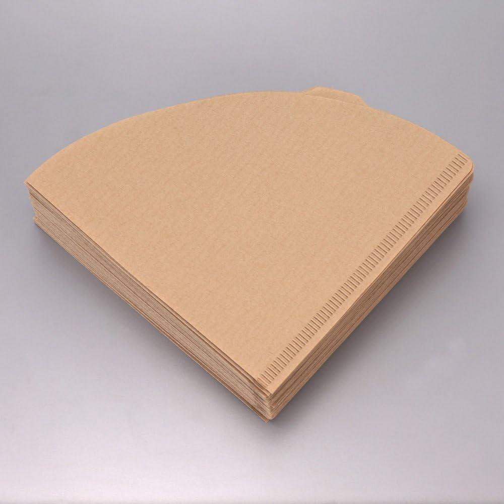 3-Pack de caf/é Hario 03/100-Count Juego de filtros de papel natural un total de 300/hojas importado de Jap/ón