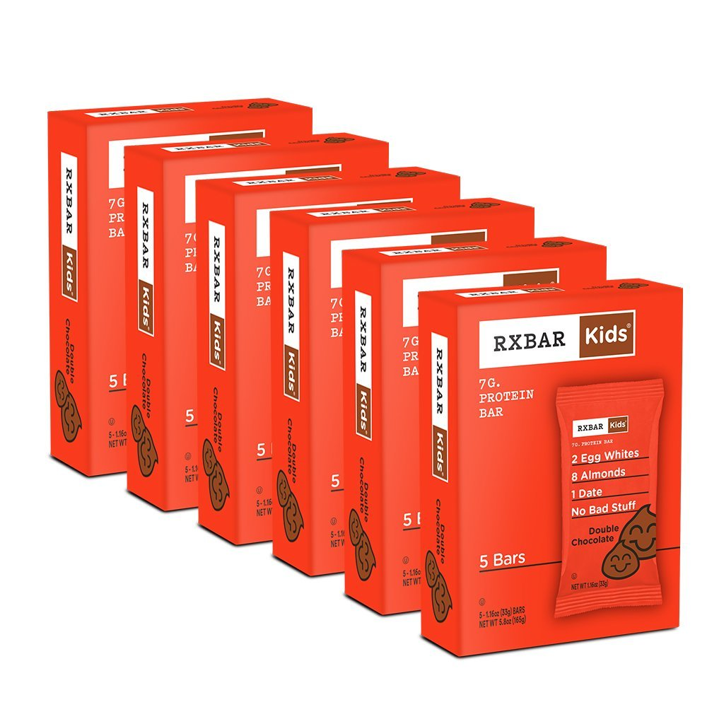 RXBAR Kids Real Food Protein Bar, Double Chocolate, Gluten Free, 1.16oz Bars, 30 Count by RXBAR (Image #2)