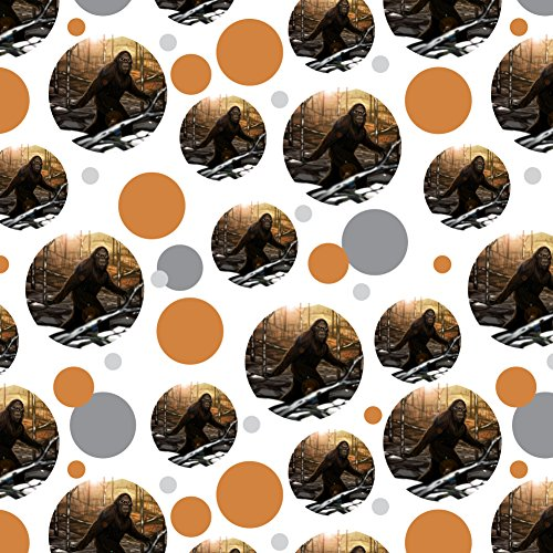 GRAPHICS & MORE Bigfoot Sasquatch Walking in The Woods Premium Gift Wrap Wrapping Paper Roll