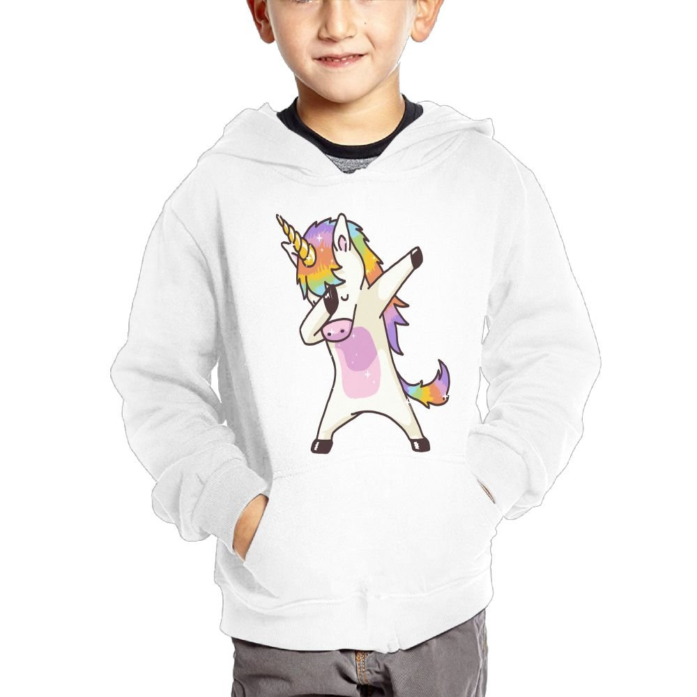 Unicorn Fashion Hooded Pocket Sweater for Children Spring//Autumn//Winter Outfit Long-Sleeved Hoodie
