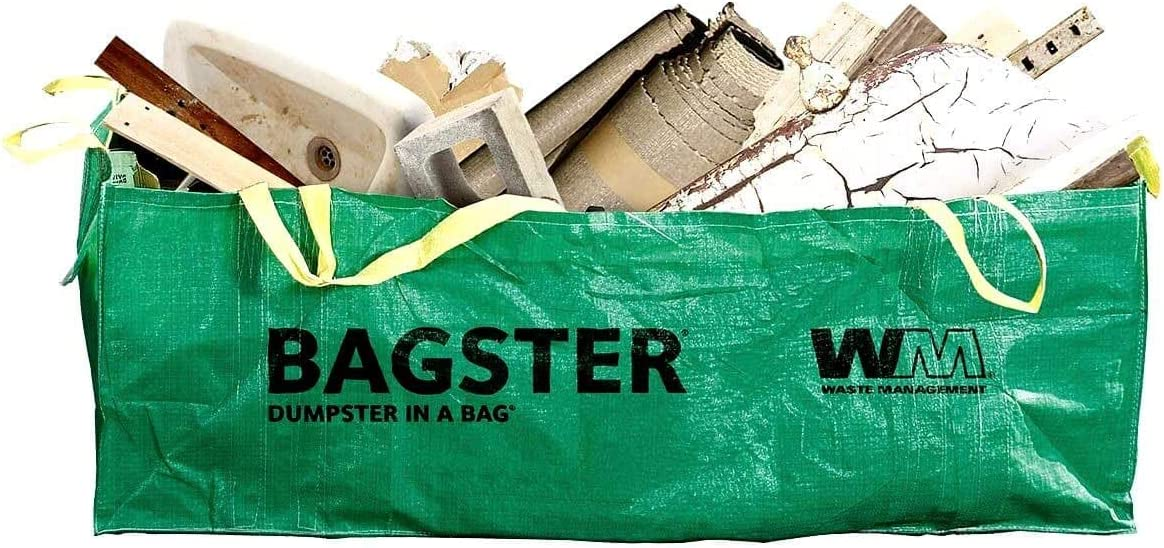 BAGSTER 3CUYD Dumpster in a Bag Holds up to 3,300 lb 1-Pack Green
