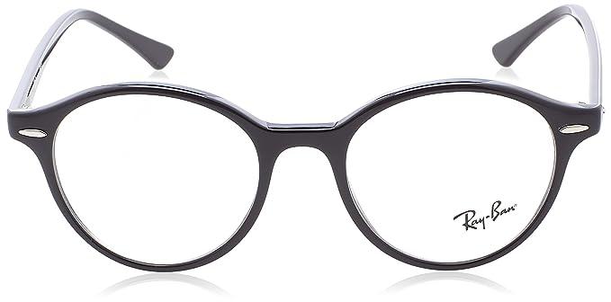 ff62a01a7c2 Amazon.com  Ray-Ban Unisex RX7118 Dean Eyeglasses Black 48mm  Clothing