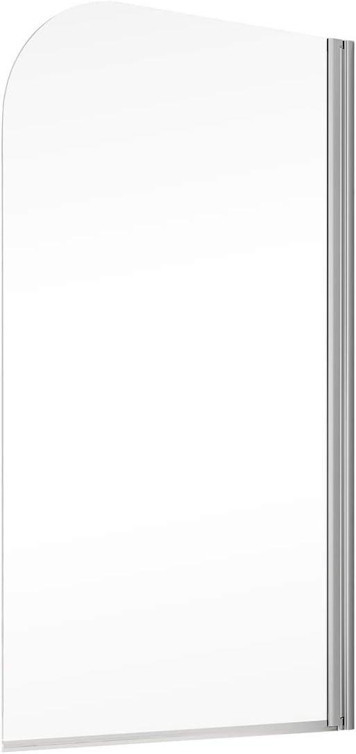paroi avec Traitement Anti-calcaire Pare-Baignoire 80x140 cm Montage /à Droite /écran de Baignoire 1 volet Rabattable profil/é Aspect chrom/é