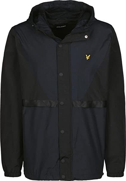 Lyle & Scott Colour Block Chaqueta Cortavientos: Amazon.es ...