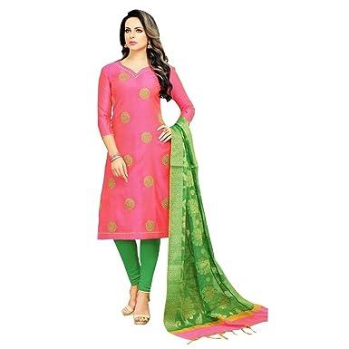fc2efc44e8 Designer Partywear Salwar Kameez With Banarasi Silk Dupatta Indian Dress  Pakistani Suit - Pink - 3X