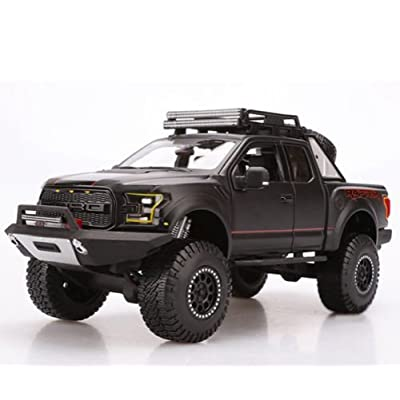 Ford 2020 F-150 Raptor Pickup Truck Matt Black Off Road Kings 1/24 by Maisto 32521: Toys & Games