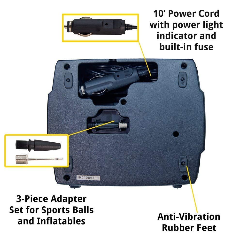 JACO SmartPro Digital Tire Inflator Pump - Premium 12V Portable Air Compressor - 100 PSI by JACO Superior Products (Image #4)