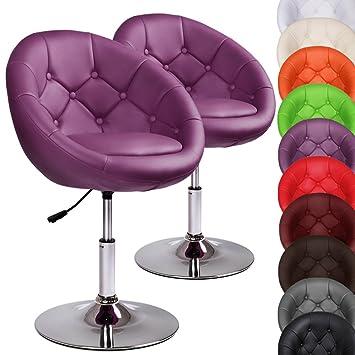 MIADOMODO Chesterfield Lounge Sessel Barhocker Cocktail-Drehsessel 360/° drehbar in der Farbe und Set Ihrer Wahl