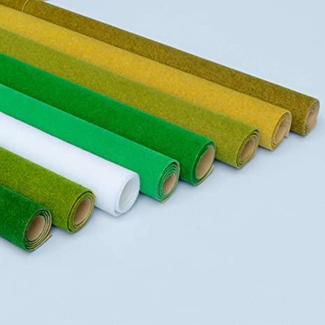 Amazon.com: RuiyiF Model Train Grass Mat 16.1 x 39.4 Inches ...