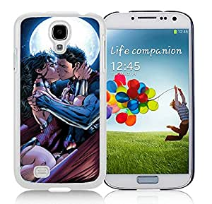 Samsung Galaxy S4 Wonder Woman And Superman Romance White Screen Cellphone Case Personalized and Unique Cover