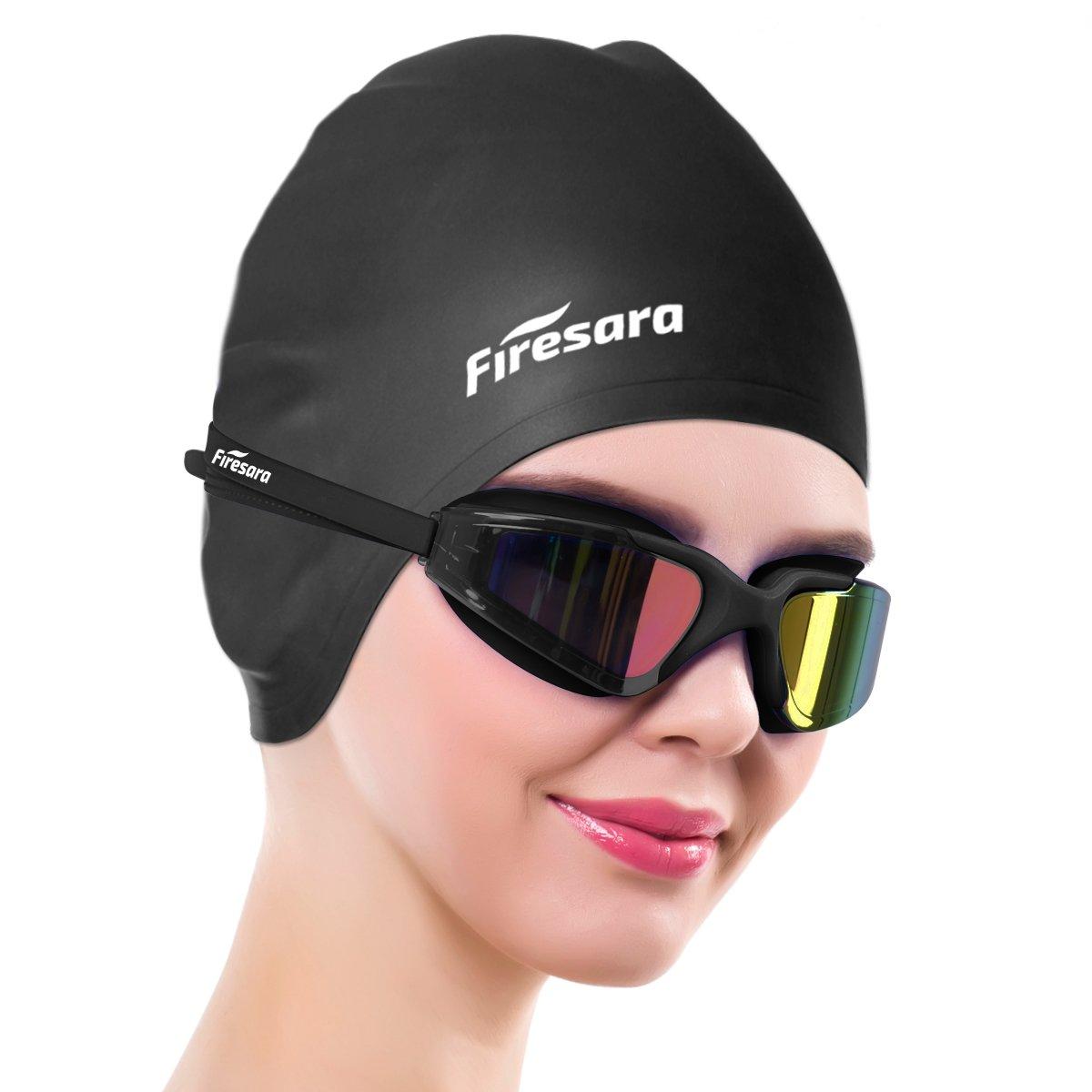 977e9612094c firesara Swim Cap Swim Goggles