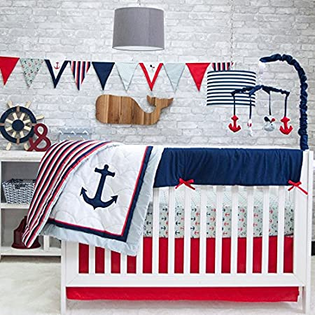 61SC5APInYL._SS450_ Nautical Crib Bedding and Beach Crib Bedding