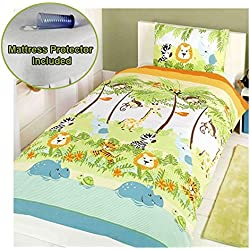 Jungle Boogie Junior/Toddler Duvet Cover & Pillowcase Set + Mattress Protector