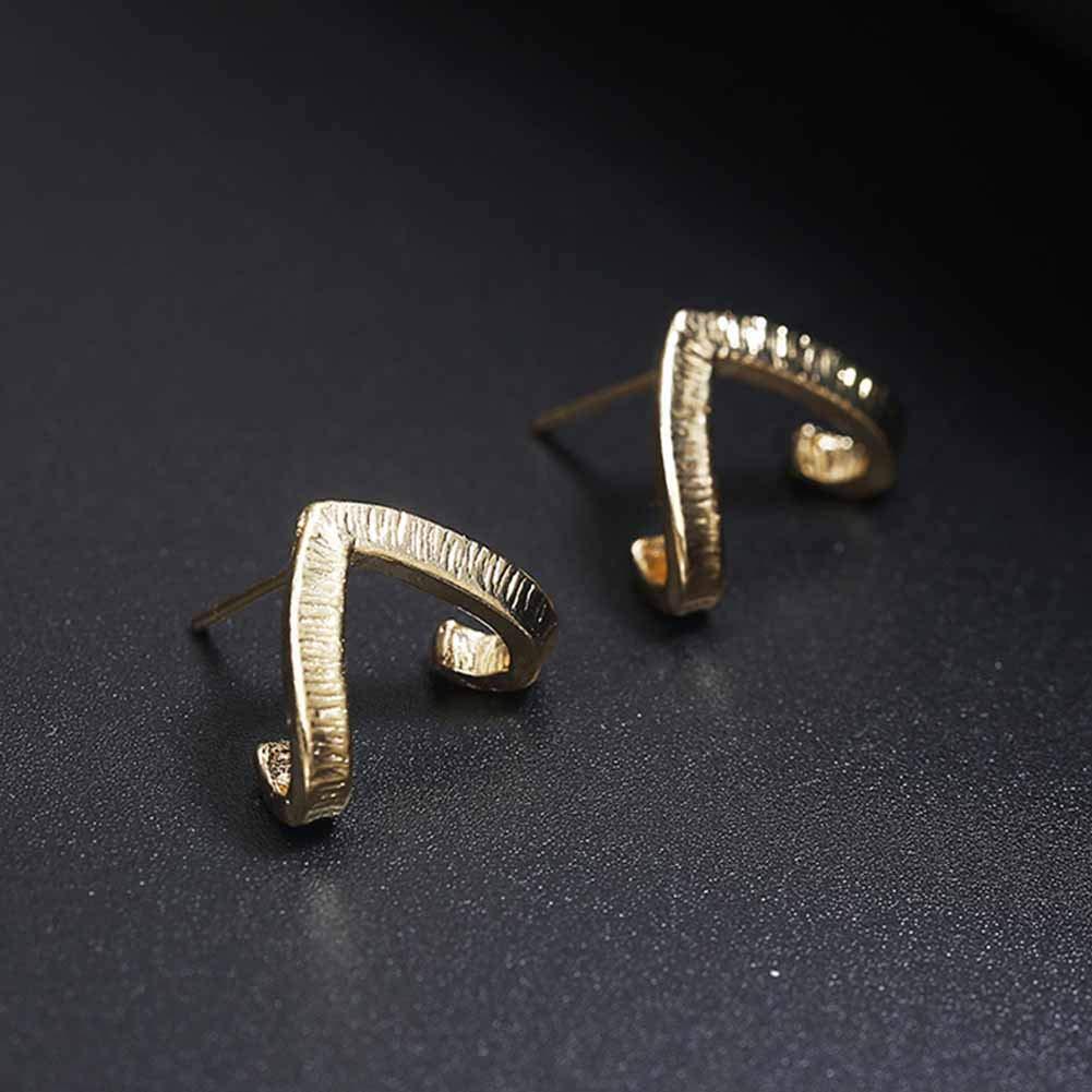 Boucles doreilles cr/éoles birdfernER Boucles doreilles /à Tige pour Femme et Fille en Forme de V Minimaliste Boucles doreilles Pendantes Boucles doreilles Crochets