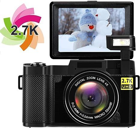 Camara Digital Camara de Fotos Camara de Fotos Digital Camara Compacta Full HD 1080P C/ámara Digital 24.0 megap/íxeles 4X Zoom Digital Linterna retr/áctil Videocamara Pantalla de 3 Pulgadas