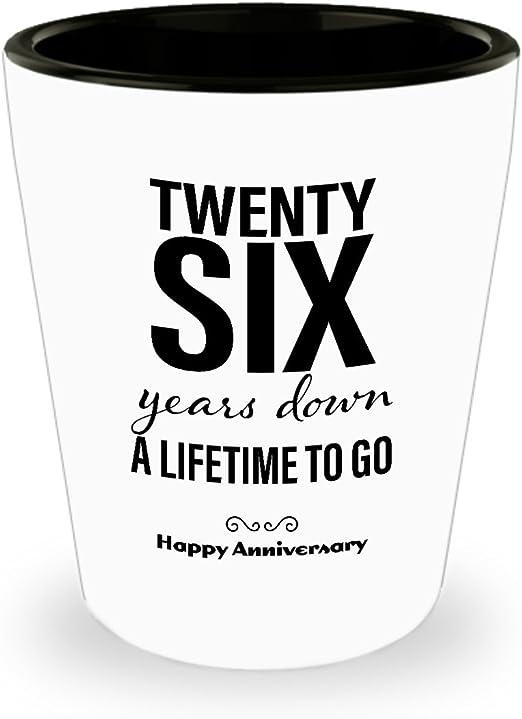 Amazon Com 26th Anniversary Gifts For Him Shot Glass Wedding