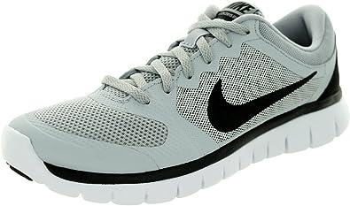 Nike Boy s flex 2015 Run Athletic Shoe, (Wolf gris/blanco/negro), 4.5 Años: Amazon.es: Zapatos y complementos