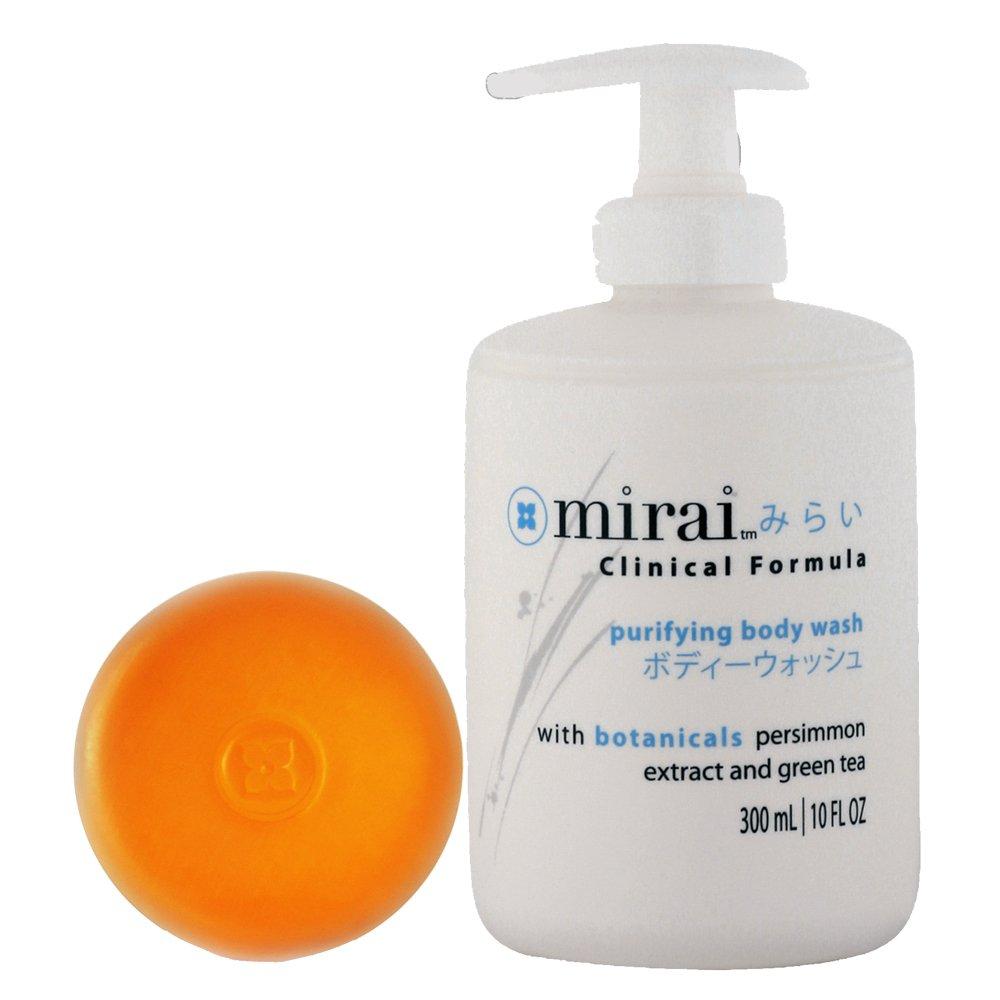 Mirai Clinical Persimmon Soap Bar and Body Wash