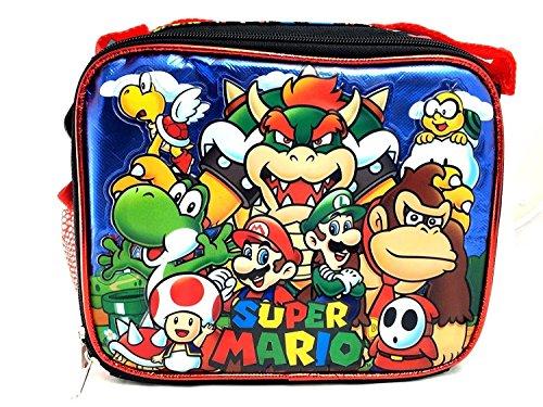 (Super Mario 3D Bros Insulated Lunch Box Bag Licensed Nintendo Luigi New Authentic)