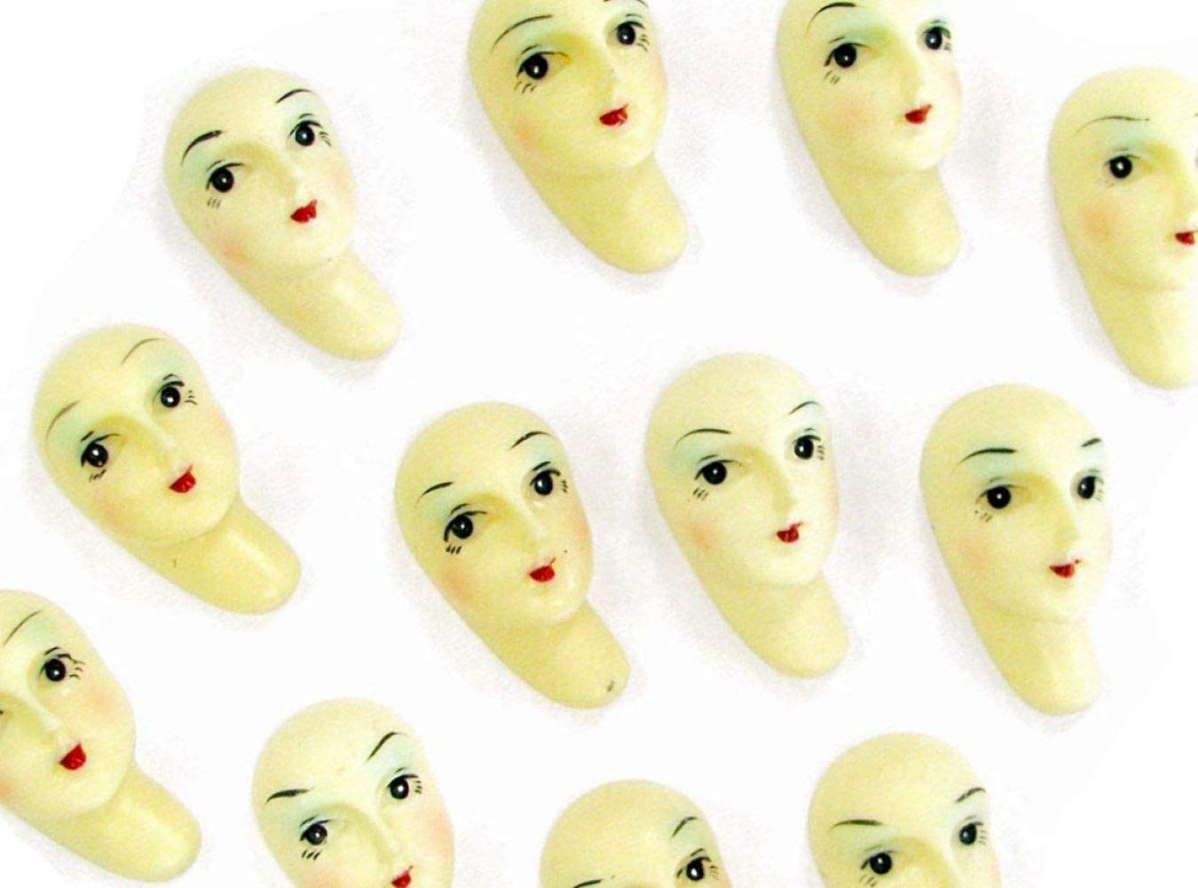 Linpeng Acrylic Doll Face Cabochons-20 pcs pkg