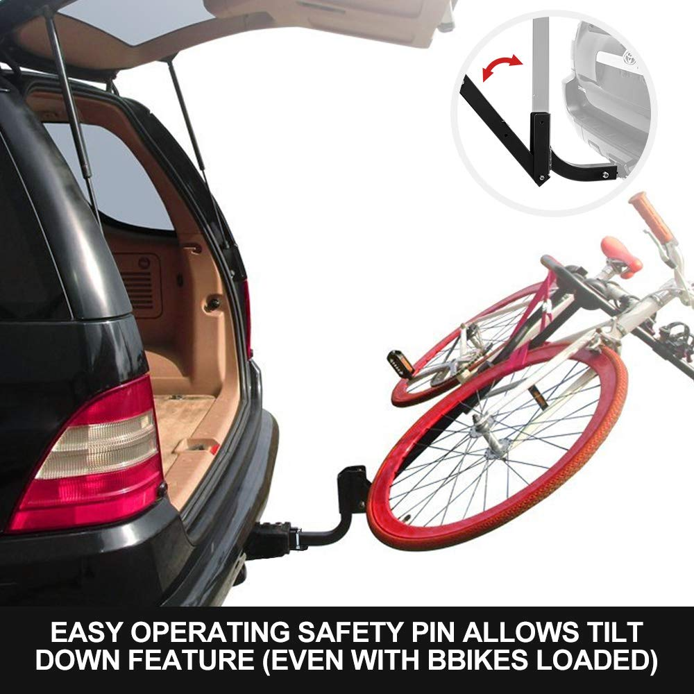 SUV 1 Year Warranty LITE-WAY 3-Bike Bicycle Hitch Mount Carrier Rack Minivans Heavy Duty Bicycle Carrier Fit Most Sedans Hatchbacks 2 Inch Receiver
