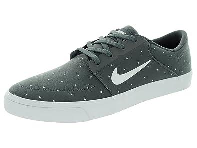 Nike Men's SB Portmore Cnvs Premium Dark Grey/White/Pine Green/White Skate