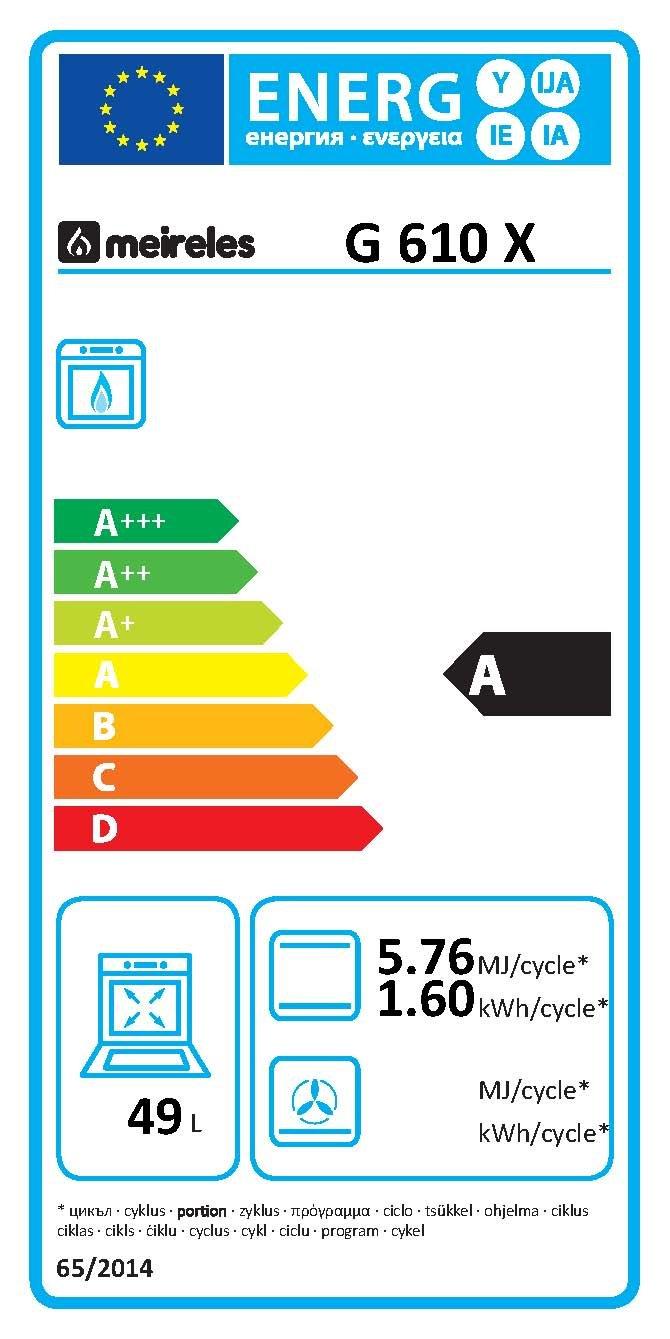 Meireles Cocina de gas 4 quemadores eléctrico - Horno Acero ...