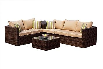 Excellent Amazon De Atlanta Rattan Garten Mobel 3 2 Sitz Sofa Set Bralicious Painted Fabric Chair Ideas Braliciousco