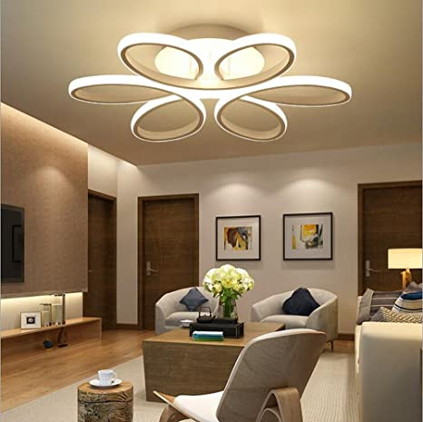 Good HALO   Contemporary LED Chrome Semi Flush Ceiling Light,Modern Swirl Design  LED Ceiling Lights, Ideal For Lounge, Living Room And Bedroom [Energy Class  A+ ...