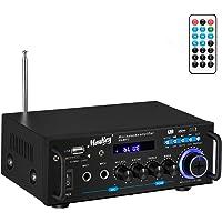 Amplificador Audio estéreo, Moukey Amplificador Audio Bluetooth, Alta fidelidad Amplificador, Amplificador Integrado con…