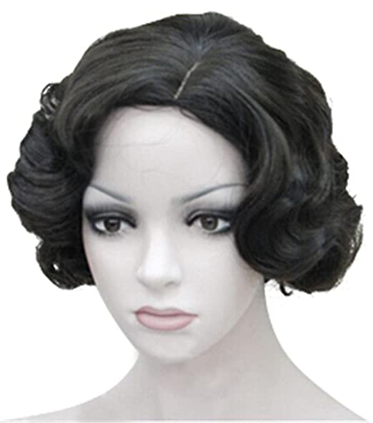 Rolecos peluca para mujer de Marilyn Monroe, Vintage, pelo corto, rizado, para