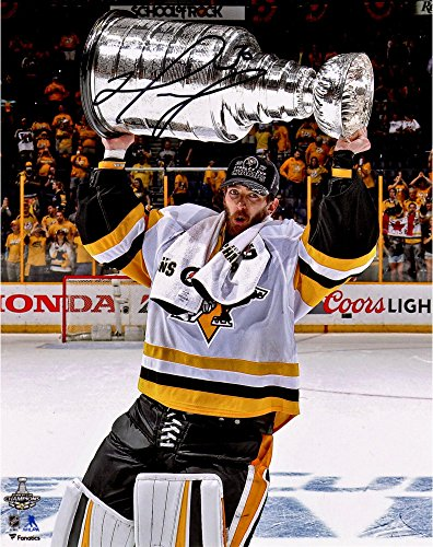 "Matt Murray Pittsburgh Penguins 2017 Stanley Cup Champions Autographed 8"" x 10"" Raising Cup Photograph - Fanatics Authentic Certified"