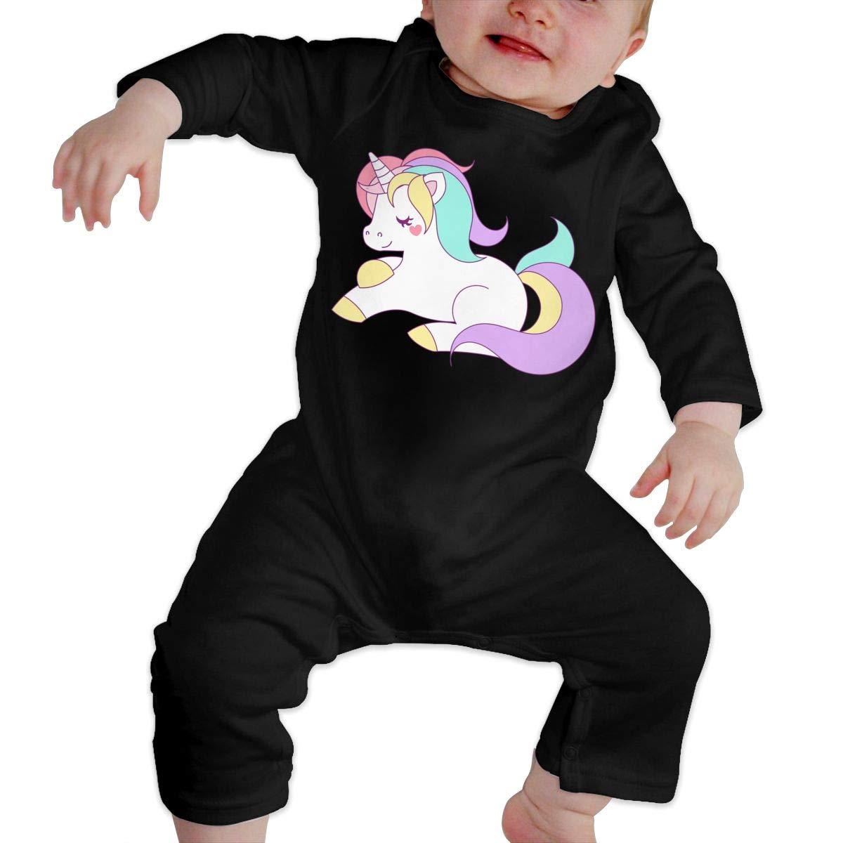 KAYERDELLE Unicorns Long Sleeve Unisex Baby Bodysuits for 6-24 Months Toddler
