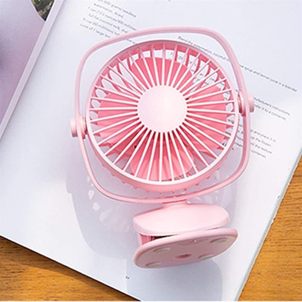 Happy Roam Convenient Convenient Fashion USB Rechargeable Mini Fan Air Cooler Clip Desk Fan Home Student Dormitory Bedside Portable Desktop Fan Fashion Color : Pink