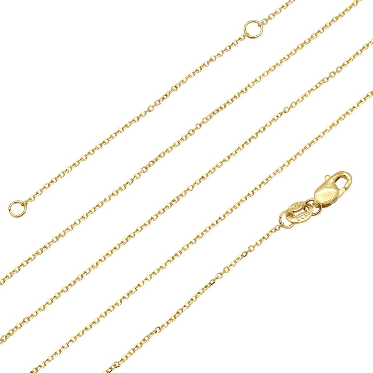 14k Tri-Color Gold Boy Kids Pendant Cable Chain Necklace 16 18