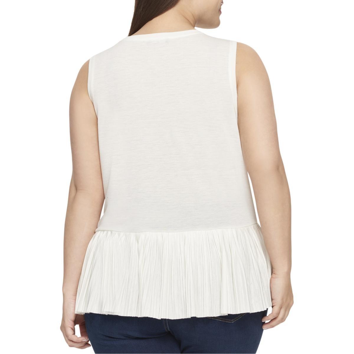 a4ab1b98dcd Tommy Hilfiger Plus Size Pleated Peplum-Hem Top (1X) at Amazon Women s  Clothing store