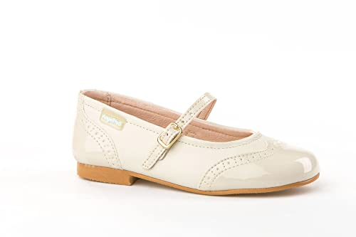 Zapatos Merceditas Charol+Napa para Niñas Todo Piel Angelitos mod.1526.  Calzado Infantil e4c1ea925f6f6