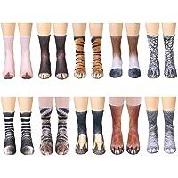 Unisex Adult 3D Print Animal Foot Hoof Paw Print Sock Crew Socks