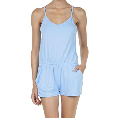 SHOP DORDOR Women's Summer Casual Spaghetti Strap Sleeveless Short Jumpsuit Rompers: Clothing