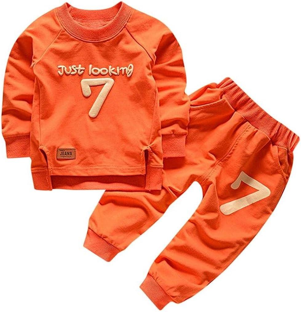 0-4Jahre Bekleidung Longra Baby Kinderkleidung Anz/üge f/ür Jungen M/ädchen Brief Langarm Shirt Oberseiten Hosen-Ausstattungen Baby 2018 Sweatshirt Babykleidung Set