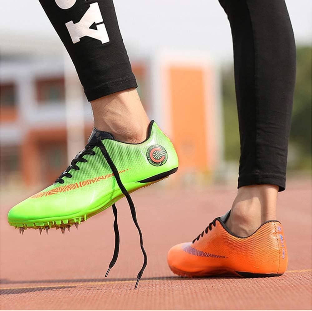 ZRSH Zapatillas de Atletismo Unisex 8 Clavos de competici/ón de Atletismo al Aire Libre Zapatillas de Clavos Deportivas Profesionales Zapatos con Clavos