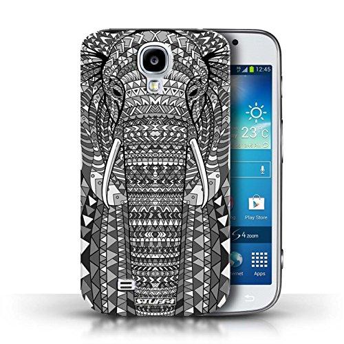 Etui / Coque pour Samsung Galaxy S4/SIV / éléphant-Mono conception / Collection de Motif Animaux Aztec