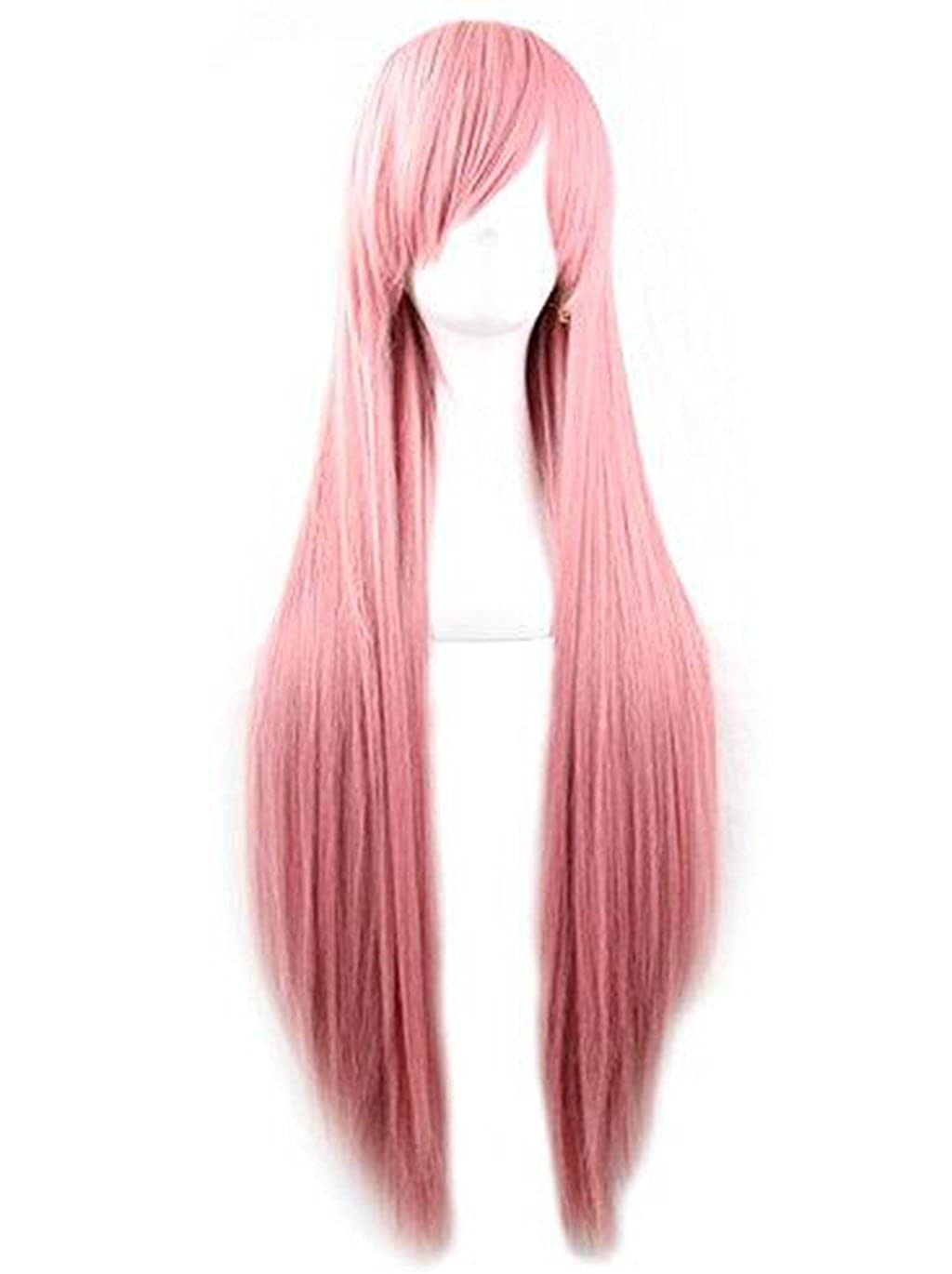3f309afb808 Amazon.com  Rbenxia 32   Women s Cosplay Wig Hair Wig Long Straight Costume  Party Full Wigs Pink  Beauty
