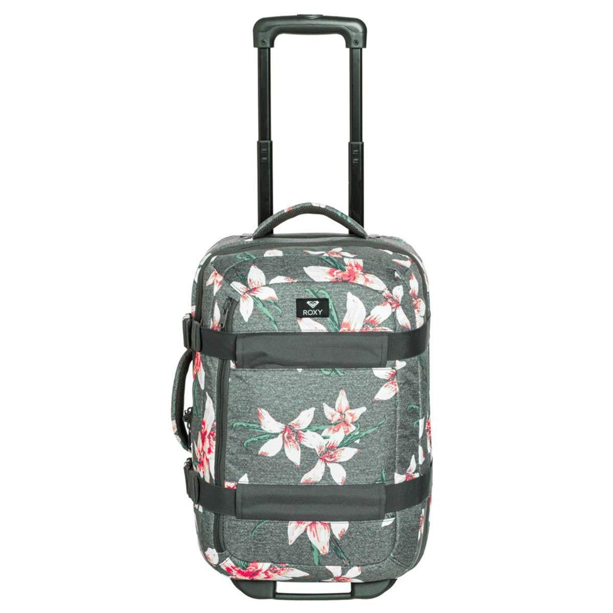 9096bfc47 Roxy Wheelie Maleta de Cabina con Ruedas, Mujer, Rosa/Gris (Charcoal  Heather Flower Field), 30 l: Amazon.es: Deportes y aire libre